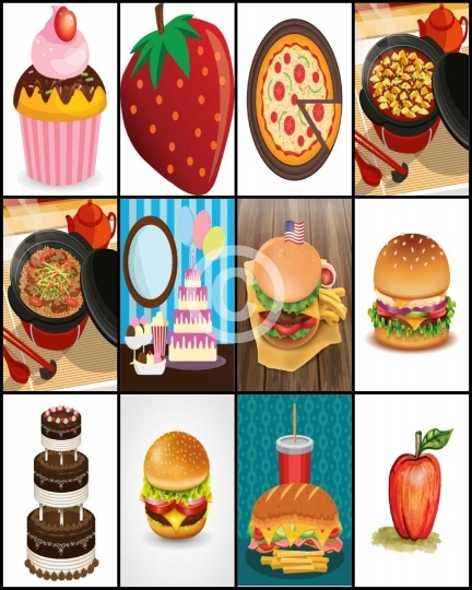 Food Sticker Sheet For Happy Planner