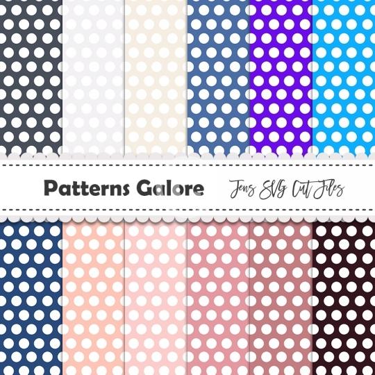 12 Polka Dots Digital Papers